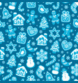 christmas and new year seamless pattern of vector image vector image