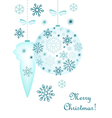 Christmas decorative background vector image