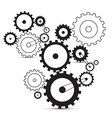 cogs - gears on white background vector image vector image
