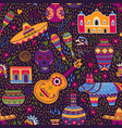 colors mexico seamless pattern vector image