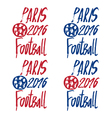 Concept logo for the europe football championship vector image vector image