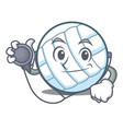 doctor volley ball character cartoon vector image