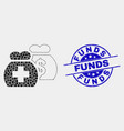 dot medical funds icon and distress funds vector image vector image