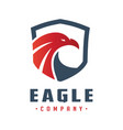 eagle head shield logo design vector image vector image