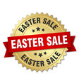 easter sale round isolated gold badge vector image vector image