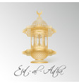 eid mubarak design background vector image vector image