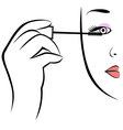 Eye makeup symbol vector image
