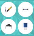 flat icon appliance set of destination resistor vector image vector image