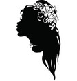 graphic silhouette of a art deco woman vector image vector image