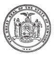 great seal state new york vintage vector image vector image