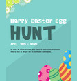 happy easter egg background style vector image
