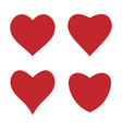 heart icon love symbol set vector image vector image