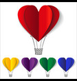 Heart-shaped hot air balloons background vector image vector image