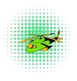 Helicopter icon comics style vector image vector image