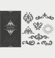 high quality damask design elements vector image vector image