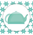 kitchen teapot element icon vector image vector image