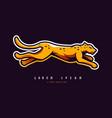 leopard logo design template vector image