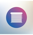 Louvers sign icon Window blinds or jalousie vector image vector image