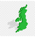 map of great britain isometric icon vector image