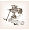 Meat grinder sketch style vector image