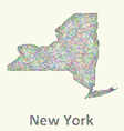 New York state line art map vector image vector image