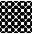 Oval black seamless pattern vector image vector image