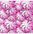 paper floral background pink flower vector image vector image