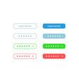 password input ui elements kit vector image vector image