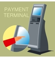 Payment terminal vector image