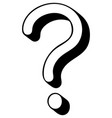 question mark 3d on transparent background vector image vector image