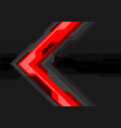 red grey arrow futuristic on black banner vector image vector image