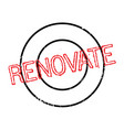 renovate rubber stamp vector image