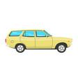 retro estate car vector image vector image