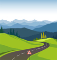 Road and landscape vector image