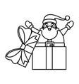 santa claus in giftbox vector image
