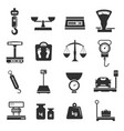 scales icon set weight pictogram collection in vector image vector image