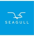 Seagull logo in one line outline flash style vector image vector image