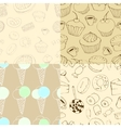 seamless patterns with sweets vector image