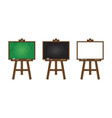 set of realistic blackboard greenboard and vector image