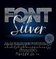 set of silver letters numbers and symbols vector image