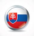 Slovakia flag button vector image