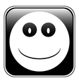Smile face button vector image vector image