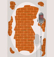 stand up night wall vector image vector image