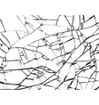 surface broken glass texture sketch shattered vector image vector image