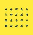 teamwork icons set with brain work coffee break vector image