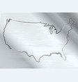 usa on brushed metal vector image