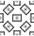 video icon seamless pattern on white background vector image vector image