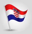 waving simple triangle croatian flag vector image vector image