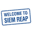 Welcome to Siem Reap blue grunge square stamp
