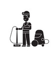 welder and accessories black concept icon vector image vector image